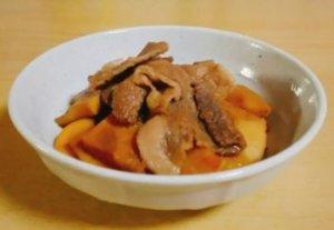 タケノコと豚肉の炒め煮