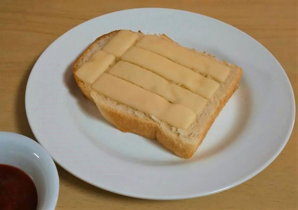 チーズと内麦食パン
