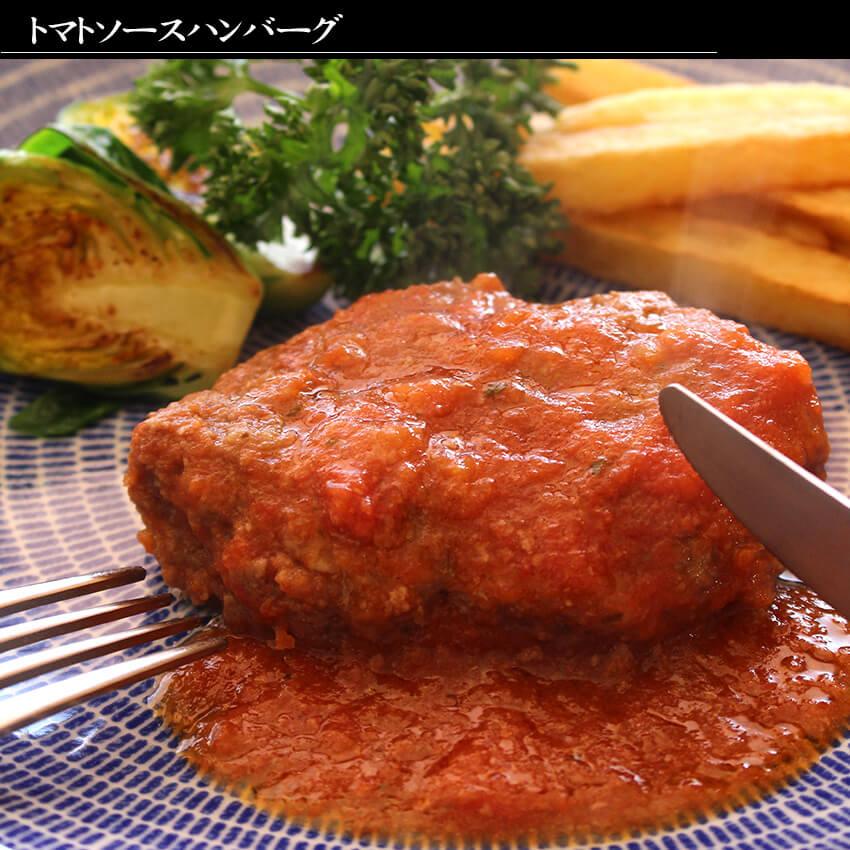 おかわりのトマトソースハンバーグ