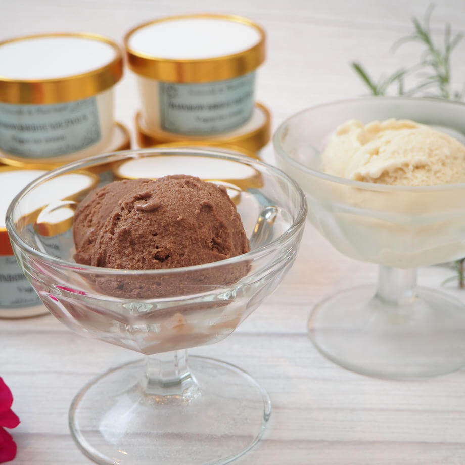 レインボーバードランデヴーのミルキーヴィーガンアイスクリーム
