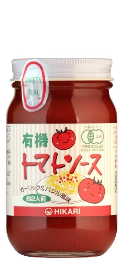 光食品のガーリック&バジル風味トマトソース