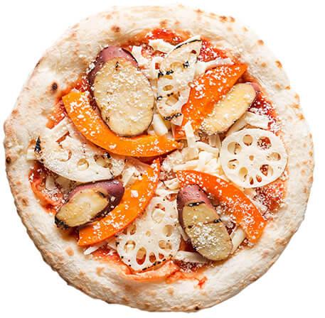 森山ナポリの塩麴加賀野菜ピザ