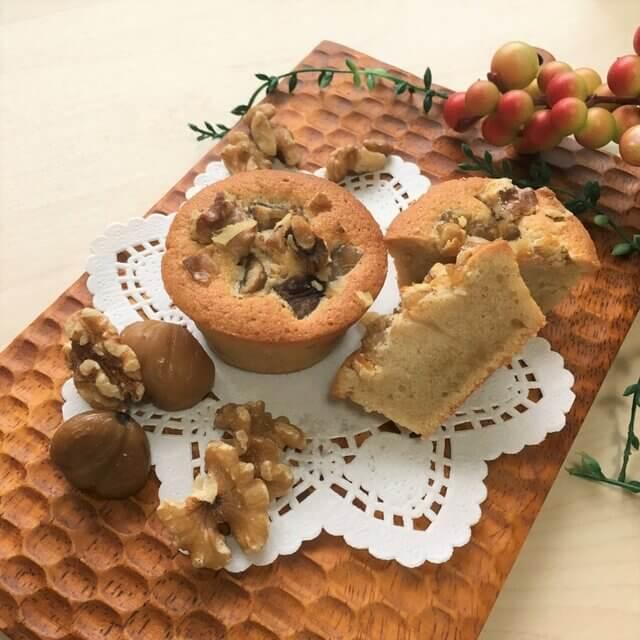 厳選素材と白砂糖不使用の菓子専門店 シュクルヴィ 栗とくるみのフィナンシェケーキ