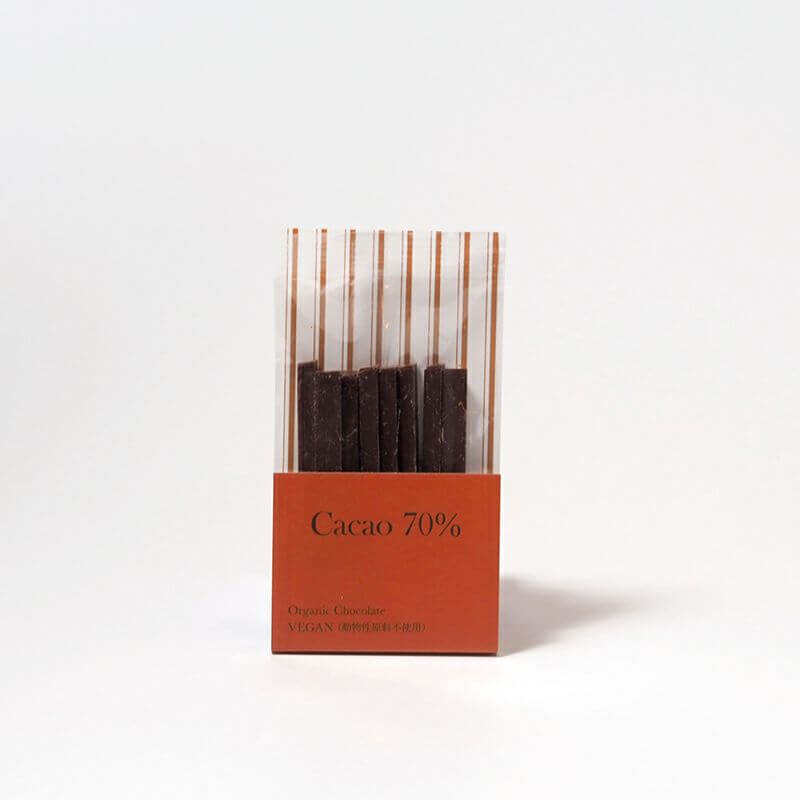 SIZEN TO OZENの有機スティックチョコレート カカオ70%