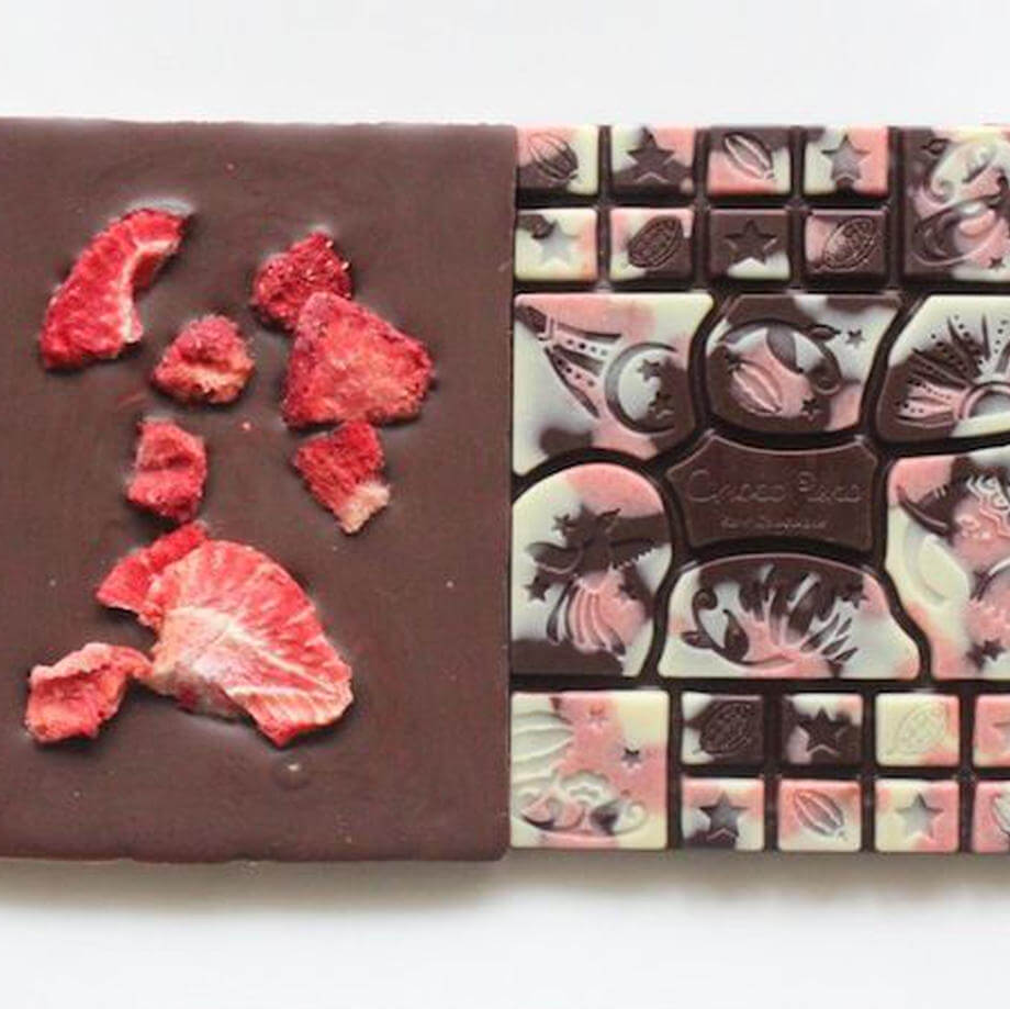 チョコレコの68%カシュー苺ミルク 53g