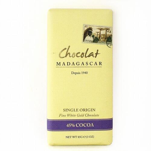 ロベール ショコラマダガスカル ホワイトゴールドチョコレート45%